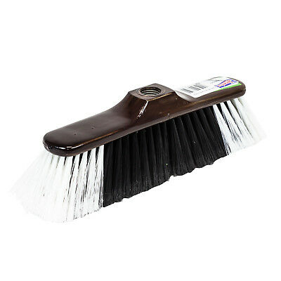 Brown classic broom without a stick for indoor use