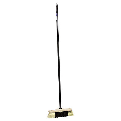 Robust classic broom with a metal stick for indoor and outdoor use