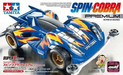 Tamiya 19450 1/32 Mini 4WD JR Spin Cobra Premium Super II Chassis Model Kit