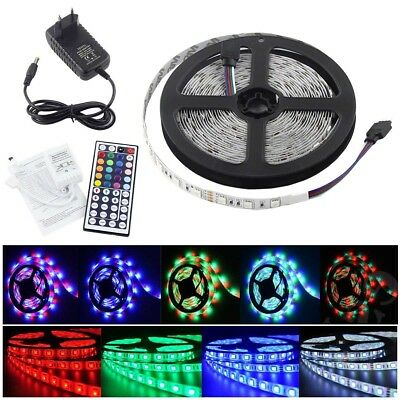 5M 2835 5730 5050 300LEDs SMD Flexible LED Strip Light +RF Remote +12V Power