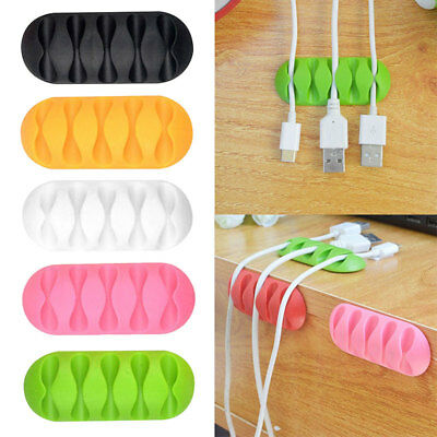 2PCS/Set Multipurpose Wire Cord Cable Tidy Holder Organizer Line Winder