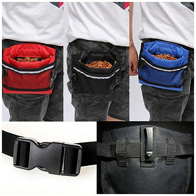 Pet Puppy Dog Holder Pocket Training Treat Bag Snack Bait Obedience Food Pouch