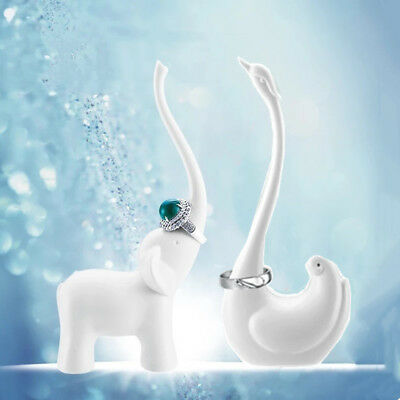 Swan Elephant Jewelry Holder Cartoon Ring Holder Bathroom Organizer Desk decor