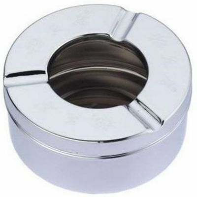 Cigar Round Smoking Stand Pipe Ashtray Stainless Steel Cigarette Holder Ash