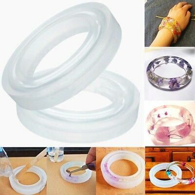 Round Silicone Resin Curve Bracelet Bangle Mould Mold Handmade Making Tool