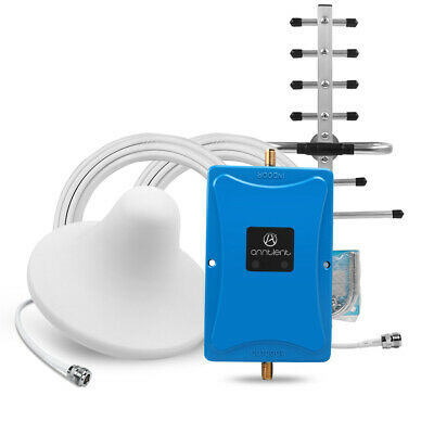 70dB 900/1800MHz Dual Band Handy Signal Booster Repeater Verstärker+Antenne Set