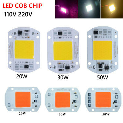 Smart IC LED COB Chip 20W 30W 50W LED Lamp Chip And Grow Light Lamp 220V 110V