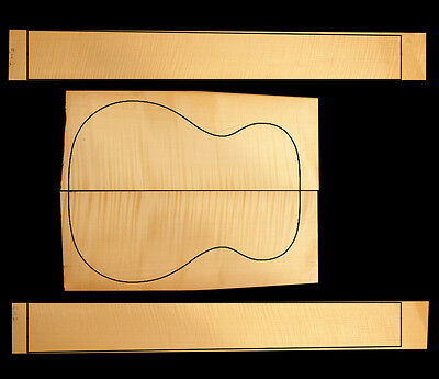 Flamed German/European Maple Small Acoustic/Classical Back & Sides Timber Set #2