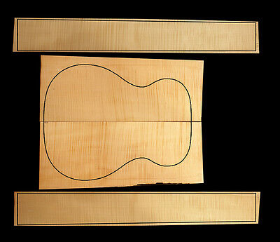 Flamed German/European Maple Small Acoustic/Classical Guitar Back & Sides Set #5