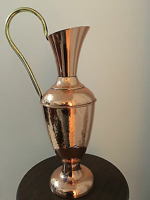 Vintage Copper Pitcher Hand Hammered Made in Britain