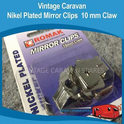 Caravan Mirror Clips 10mm Claw ( 4 PACK ) Nickel Plated Olympic Chesney H0133