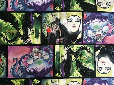 Fq Disney Villains Maleficent Ursula Wicked Queen Fabric Characters