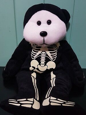 CUDDLY KIDS BEANIE KIDS SKULLY THE SKELETON BEAR 39cm