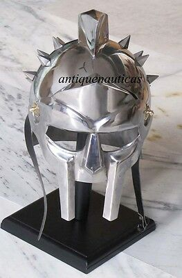 New Gladiator maximus Medieval Armor Helmets 300 movie Spartan W/ STAND