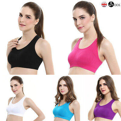 NEW Seamless Yoga Sports Style Bra Crop Top Vest Comfort Stretch Bras Shapewear