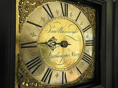 "Samuel Wainwright Northampton numbered 10"" brass dial longcase grandfather clock"