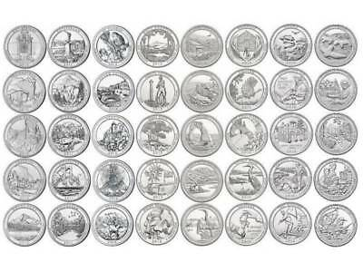 National Park Quarter Set 2010 - 2017 - P Mint - 39 Quarter - neu / unc
