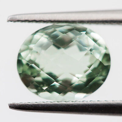 11X9 Mm Oval Aaa! Natural Green Amethyst If/vs Loose Gem 3.81 Ct Brazil