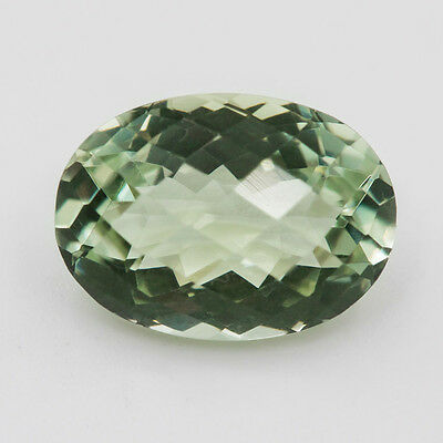 15X11 Mm Oval Aaa! Natural Green Amethyst If/vs Loose Gem 7.76 Ct Brazil