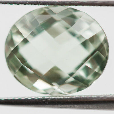 13X11.5 Mm Oval Aaa! Natural Green Amethyst If/vs Loose Gem 7.64 Ct Brazil