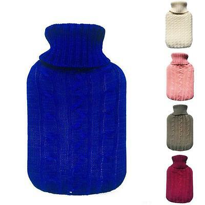 Hot Water Bottle Cover Knit Liter Classic Cute Premium W Knitted Large Bags Supe