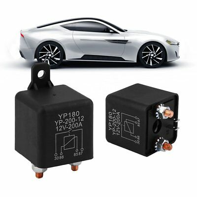 Universal 12V-200A Auto Car Relay High Curent Truck Motor Replay Device Black AU