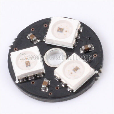WS2812 3Bit 5V 5050 RGB LED Lamp Panel Board Round for Arduino NEW