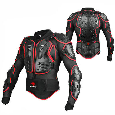 Professional Brand Motorcross Racing Full Body Armor Spine Chest Jacket Gear Red