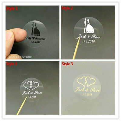 100 Print custom stickers label Wedding Sticker transparent clear adhesive label