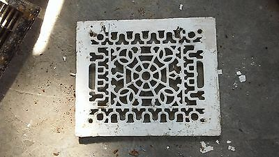 Hot Air Floor Grate Cover White Fancy Pattern