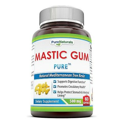 Pure Naturals Mastic Gum Support Digestive And Oral Health 500 Mg, 60 Count