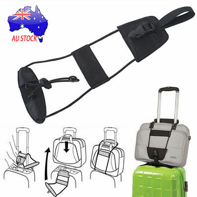 4pcs Add A Bag Strap Luggage Suitcase Adjustable Belt Carry On Bungee Travel AU