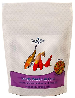 Fish Science Variety Pond Food 1250g Natural Insect Meal Sticks Blend
