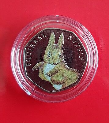 Squirrel Nutkin Beatrix Potter 50p Fifty Pence coin 2016 - Uncirculated
