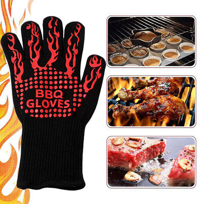 1Pc Barbecue Heat Resistant Gloves Oven Kitchen Grill BBQ Cooking Mitts