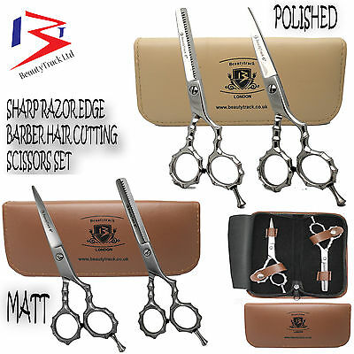 "6"" Professional Salon Hairdressing Hair Cutting Thinning Barber Scissors - Set"