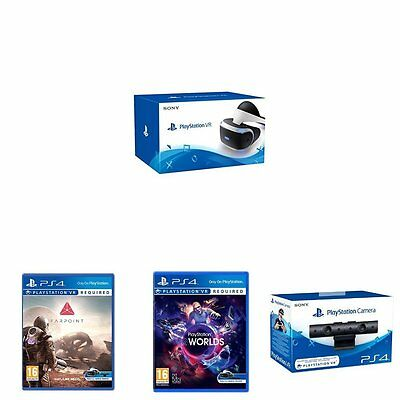 Playstation Virtual Reality + Playstation Camera + VR Worlds & Farpoint - New