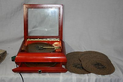 Mr. Christmas Phonograph  Wooden Music Box -  21 songs