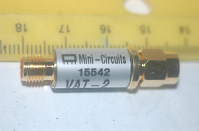 MINI-CIRCUITS MU00820 50 OHM VAT-2 FXD / SMA Attenuator New Lot Quantity-1