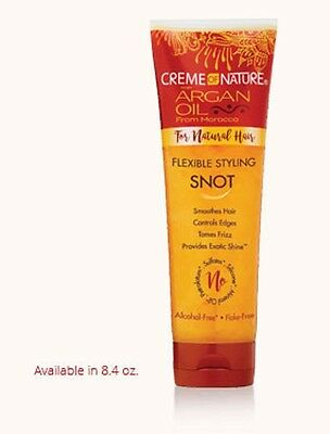 Creme Of Nature Argan Oil Flexible Styling Snot For Natural Hair 8.4 Fl Oz