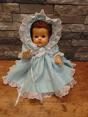 """Tiny Tears Doll American Character 20"""" Rock A Bye Eyes Rooted Hair Cries"""
