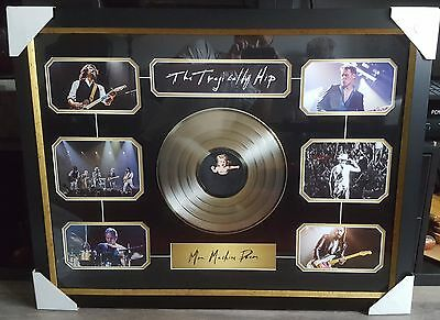 """Tragcally Hip Art Official Picture framed Collage With 12"""" Gold Vinyl Record"""
