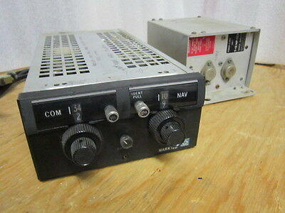 Vintage Narco MK-12B Nav/Com with T12MP12A1 Power Supply 14 Volt, excellent cndx