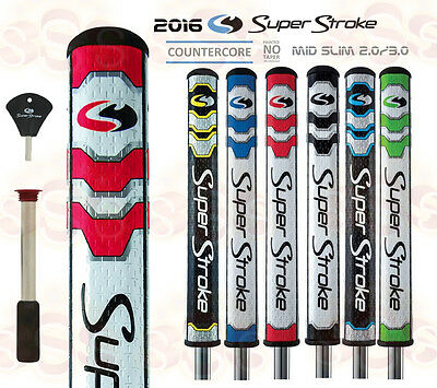 Super Stroke 2016 Mid Slim 2.0 Slim 3.0 CounterCore Putter Grip 6 Colors