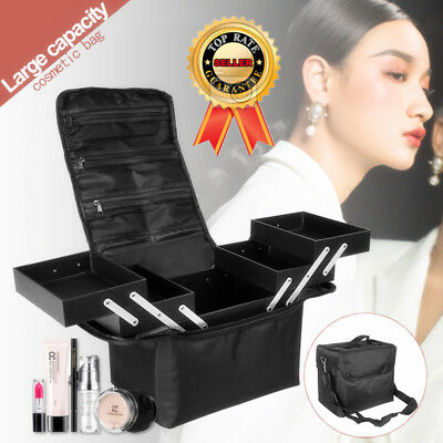 Make Up Box Extra Strong Storage Nail Jewelry pro Cosmetic Vanity Beauty Case