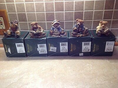 Boyds Bears & Friends The Bearstone Collection Lot Of 5W Boxes