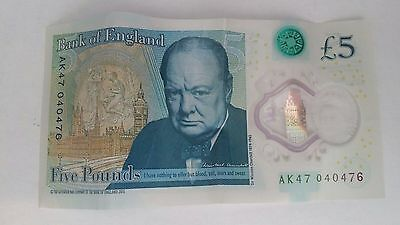 £5 NOTE with YOUR DATE 4th APRIL on serial number AK47-04-04-76 COLLECTIBLE RARE