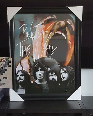 "Pink Floyd The Wall Art Picture framed Collage With 12"" Platinum Vinyl Record"
