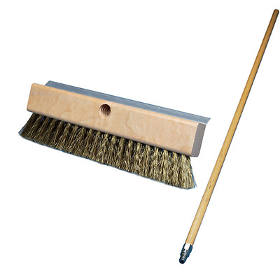 """Pizza Oven Brush With Scrapper 8"""" Brush 40"""" Handle Carlisle 4152000"""