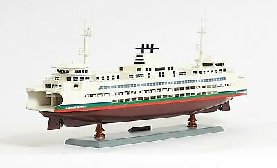 """Washington Passenger And Automobile Ferry Boat 25"""" Wooden Model Ship Assembled"""
